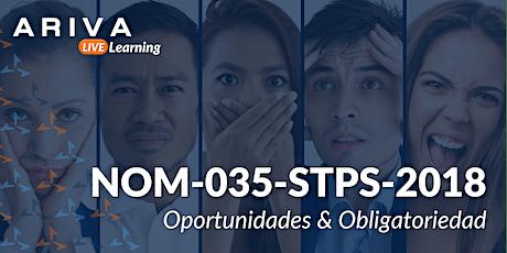 """NOM-035-STPS-2018 """"Obligaciones y Ruta de Implementación"""" boletos"""