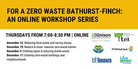 For a Zero Waste Bathurst-Finch: An Online Workshop Series tickets