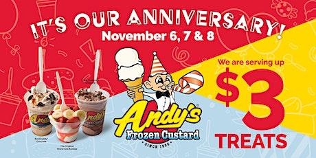 Andy's Frozen Custard Spring Hill   Anniversary   $3 Treats Nov 6-8 tickets