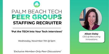 STAFFING RECRUITERS PEER GROUP | 'Put the Tech into Your Tech Interviews' tickets