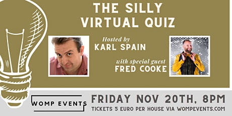 The Silly Virtual Quiz, with Karl Spain tickets