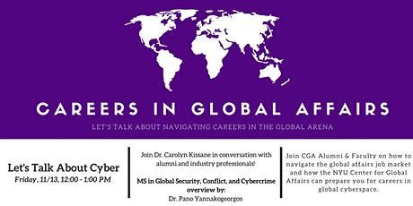 Careers in Global Affairs - Let's Talk About Cyber tickets