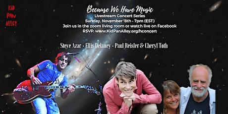 Livestream concert: Steve Azar, Ellis Delaney, Paul Reisler and Cheryl Toth tickets