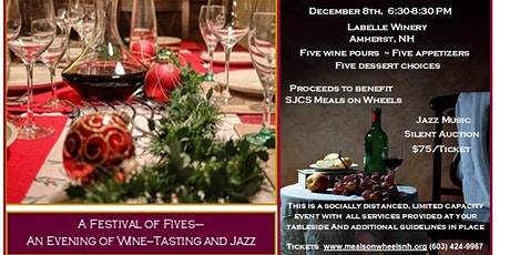 A Festival of Fives- An Evening of Wine Tasting and Jazz to benefit SJCS Me tickets