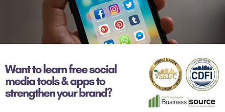 Webinar-Free Social Media Tools & Apps to Optimize Your Brand tickets