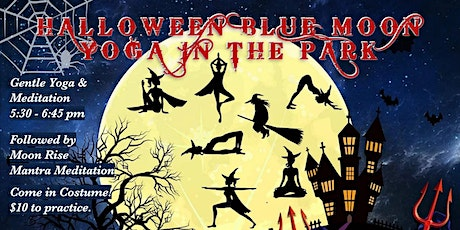 Halloween Blue Moon Yoga and  Group Chant at Memorial Park tickets