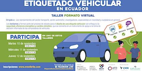 Etiquetado Vehicular en Ecuador tickets