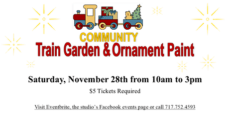 Annual Train Garden & Ornament Paint - 2nd Seating (1 to 3pm) tickets