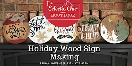 Wine & Sign: Virtual Wood Sign Painting Workshop