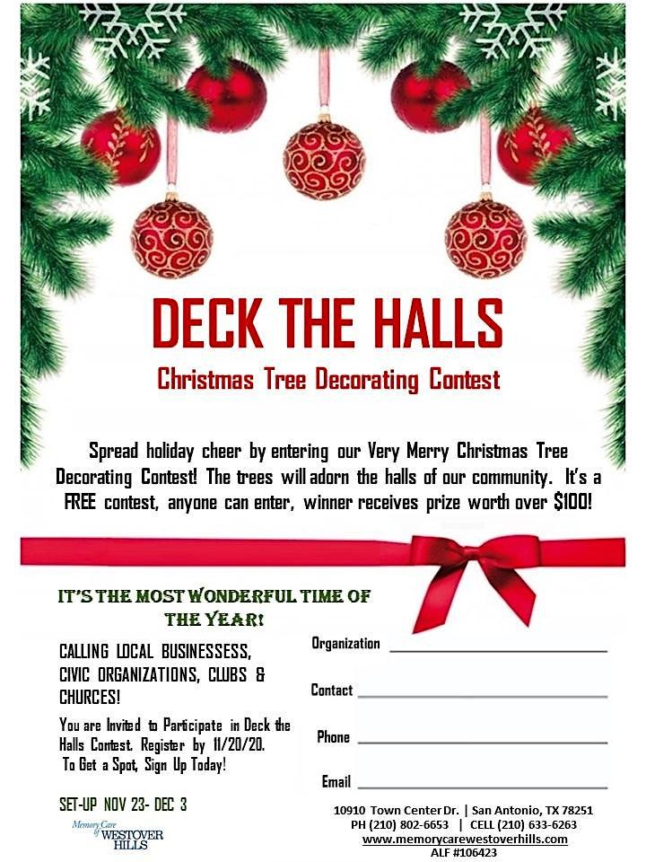 Deck  the Halls Christmas Tree Decorating Contest! image