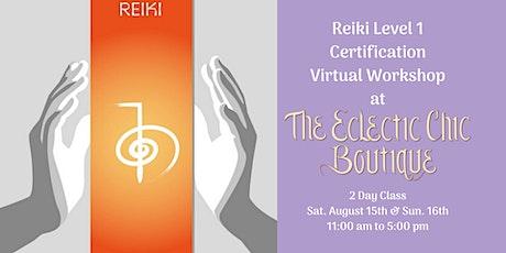 Reiki Level 1 Certification Virtual  Workshop
