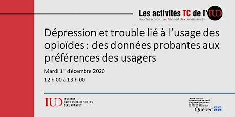 Midi-Conférence - Dépression et trouble lié à l'usage des opioïdes billets