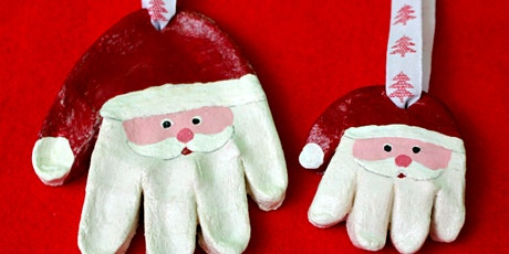 Salt Dough Santa Claus Handprint Ornaments tickets