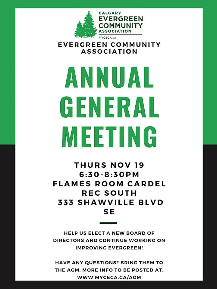 Evergreen Community Association AGM image
