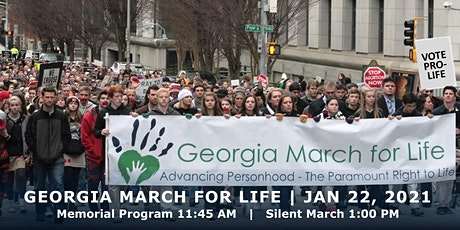2021 Georgia March For Life & Memorial Service, Liberty Plaza, Atlanta tickets