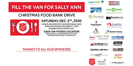 Fill the Van for Sally Ann tickets
