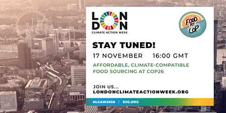 Affordable, Climate-compatible Food Sourcing at COP26 tickets