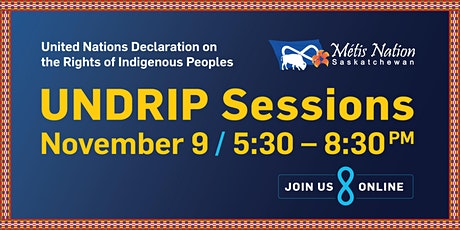 MN-S UNDRIP Session / November 9, 5:30PM - 8:30PM tickets