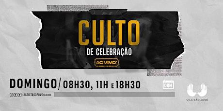 INSCRIÇÃO CULTO CELEBRAÇÃO - 18H30 ÀS 20H00 ingressos