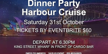 Party Dinner Cruise including Buffet Dinner & Free Cocktail tickets