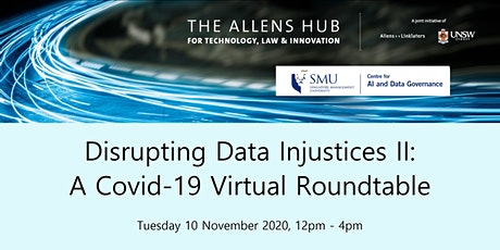 Disrupting Data Injustices II: A Covid-19 Virtual Roundtable tickets