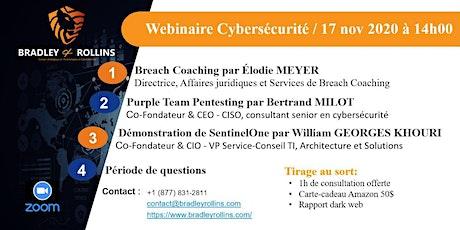 Webinaire de Cybersécurité: Breach coaching, Purple team et  SentinelOne billets