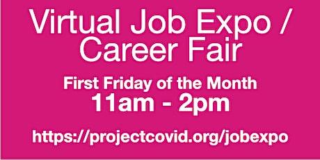 #ProjectCovid: Virtual Job Expo / Career Fair #New York tickets