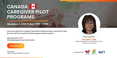 Canada Caregiver Pilot Programs tickets