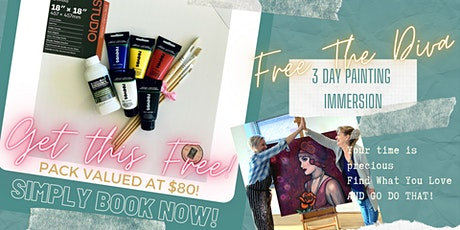 Free The Diva - 3 Day Painting Immersion - You can paint! 13th-15th Nov 20 tickets