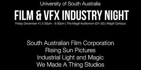 2021 UniSA Film and VFX Industry Night tickets