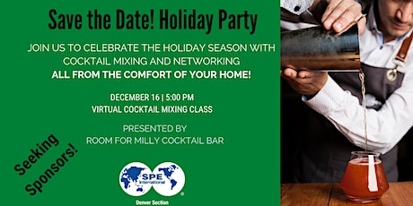 SPE Virtual Holiday Party   Cocktail Mixing Class tickets