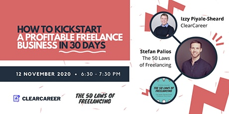 How to Kickstart a Profitable Freelance Business in 30 Days tickets