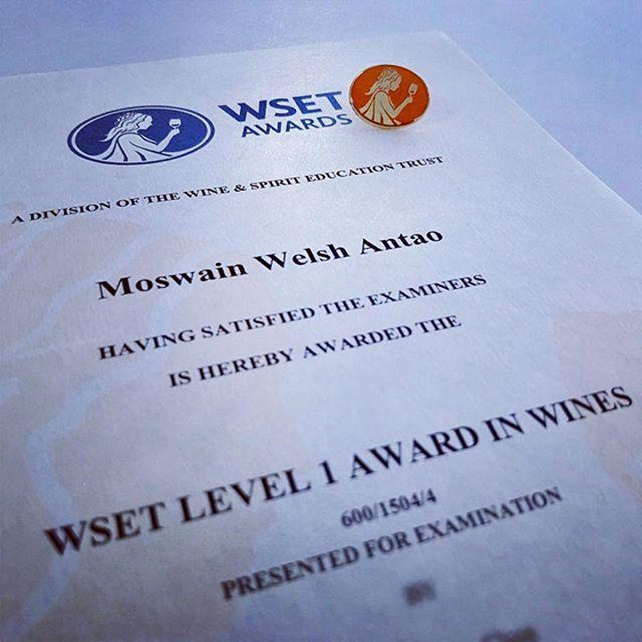 WSET LEVEL 1 WINE COURSE SINGAPORE (English) image