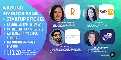 A Round Investor Panel +  Startup Pitches (On Zoom) tickets