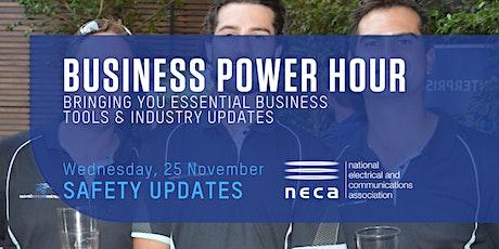 NECA Business Power Hour - Safety Updates tickets
