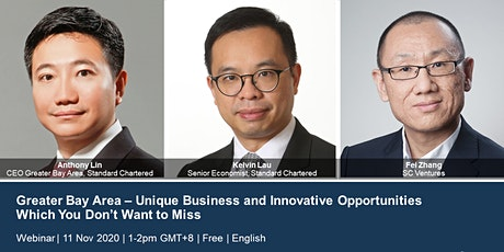 Greater Bay Area– Unique business and innovative opportunities - 11 Nov 1pm Tickets