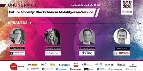 Future Mobility: Blockchain in Mobility-as-a-Service (Online Panel) tickets