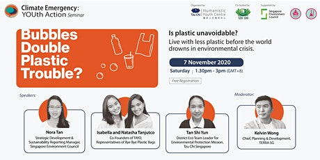 """Climate Emergency: YOUth Action - """"Bubbles Double Plastic Trouble?"""" tickets"""