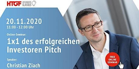 1×1 des erfolgreichen Investoren-Pitch - 20.11.2020 Tickets