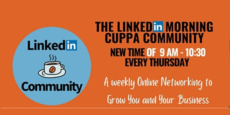 LinkedIn Morning Cuppa Community Networking biglietti
