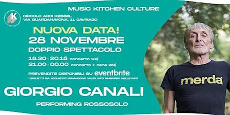 Giorgio Canali: Rossosolo | Kessel - Cavriago (RE) | Concerto biglietti