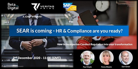 SEAR is coming - HR & Compliance are you ready? Financial Services Webinar tickets
