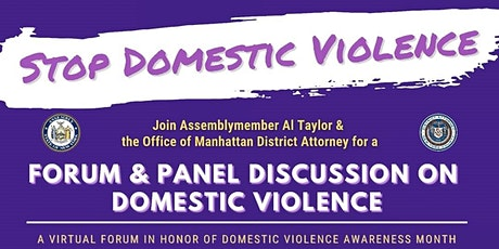 NYS Assemblymember Al Taylor  Domestic Violence Forum & Panel Discussion tickets