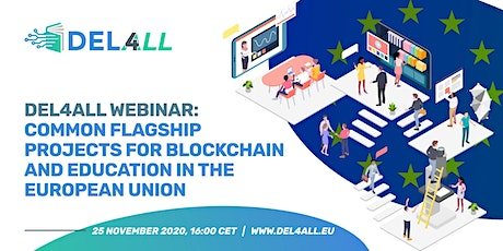 Common flagship projects for blockchain and education in the European Union billets