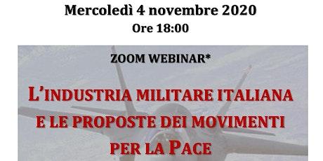 L'industria militare italiana e le proposte dei movimenti italiani biglietti