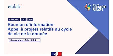 Réunion d'information - Appel à projets « Cycle de vie de la donnée » billets