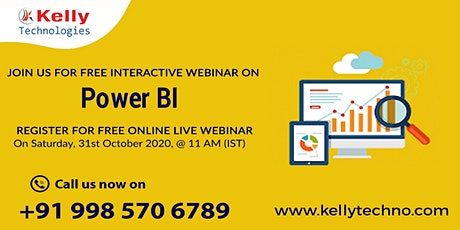Register For Power BI Free Interactive Webinar On 31st Oct At 11 AM [IST] tickets