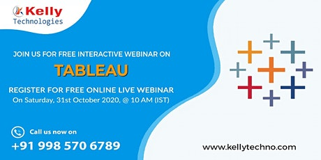 Enroll For Tableau Free Interactive Demo On 31st Oct At 10 AM [IST] tickets