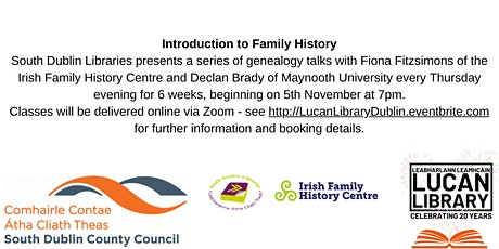 Introduction to Family History: Evidence in your own home tickets