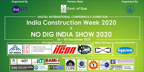 India Construction Week & No Dig India Show 2020 tickets